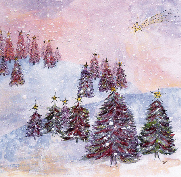 'Christmas forest'  (watercolour 2010)