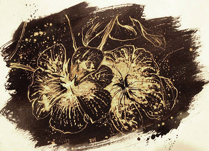 'Orchids' (Bleach and ink. 2004)