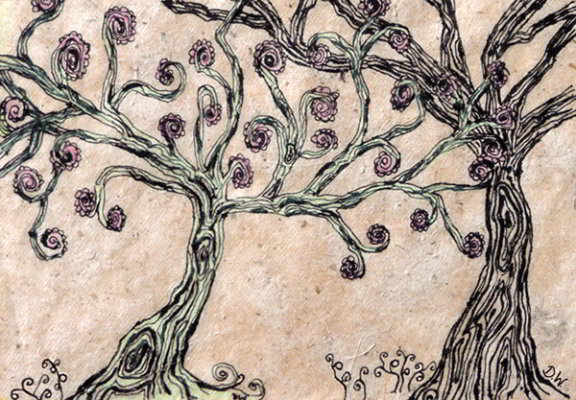 'Tree doodle'  (Ink and pencil, 2009)